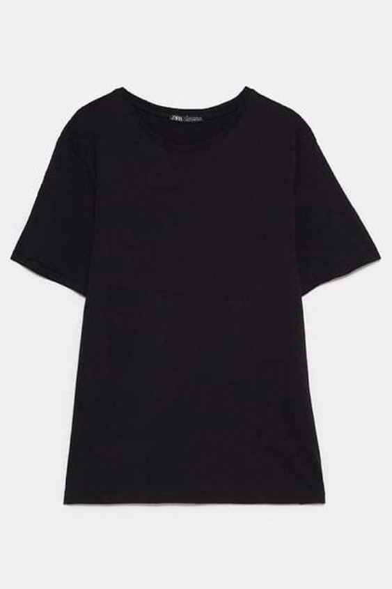 BLACK BASIC COTTON T SHIRT 2