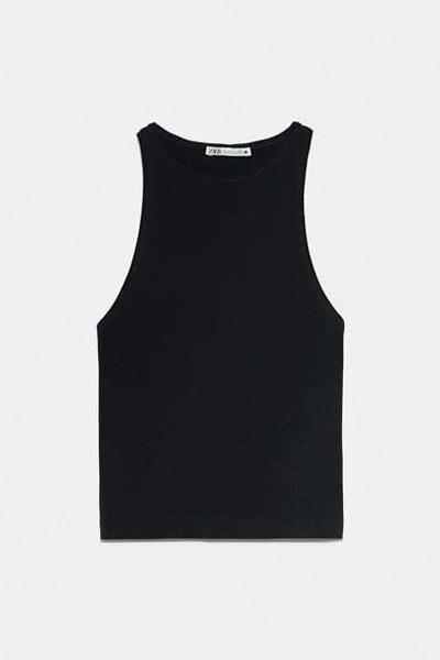 BLACK HALTERNECK T SHIRT 3
