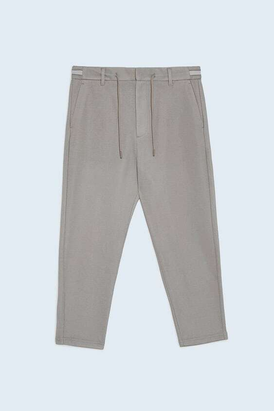 CAMEL JOGGER WAIST TROUSERS WITH TAPING