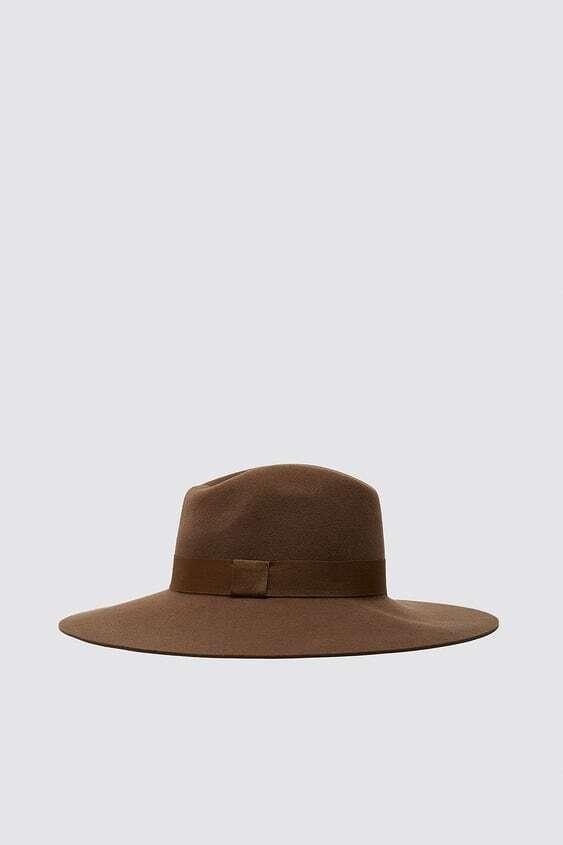 DARK CAMEL WIDE BRIMMED WOOL HAT
