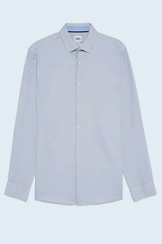 GREY EASY CARE TEXTURED SHIRT 2