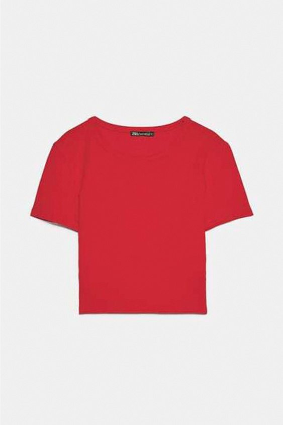 RED CROPPED T SHIRT 2