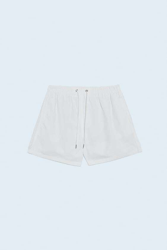 WHITE CLASSIC COLOURED SWIMMING TRUNKS