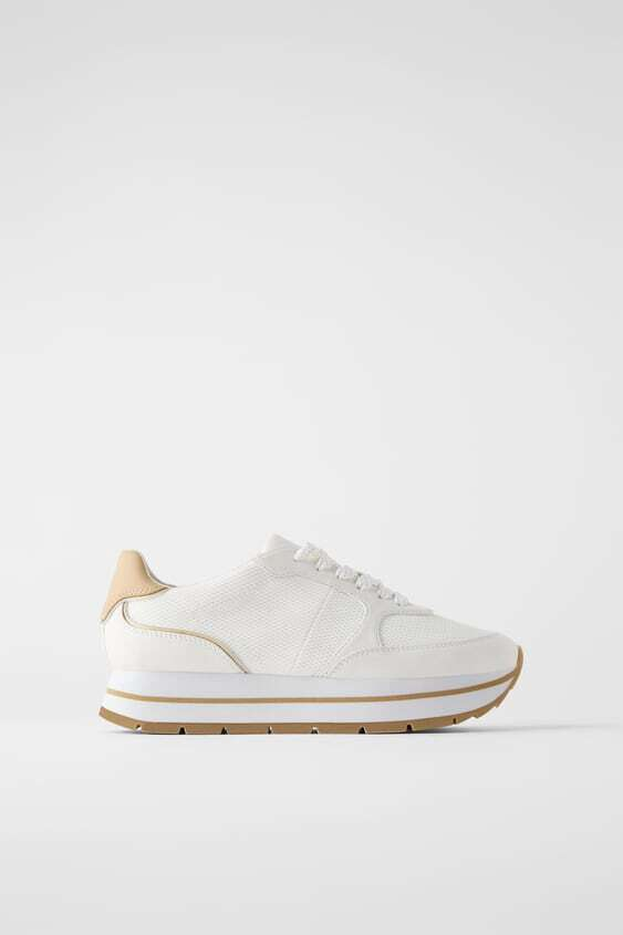 WHITE TRAINERS WITH MESH