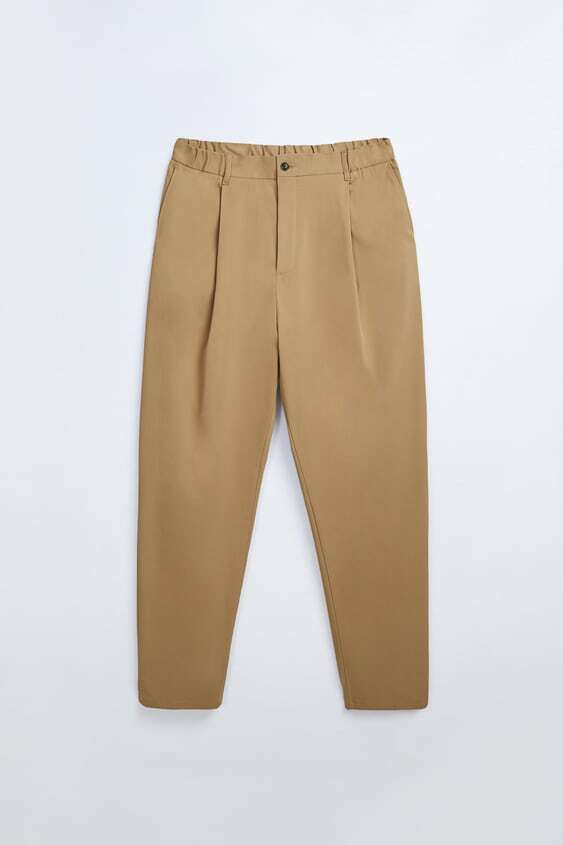 BROWN RELAXED FIT FIT LONG PANTS