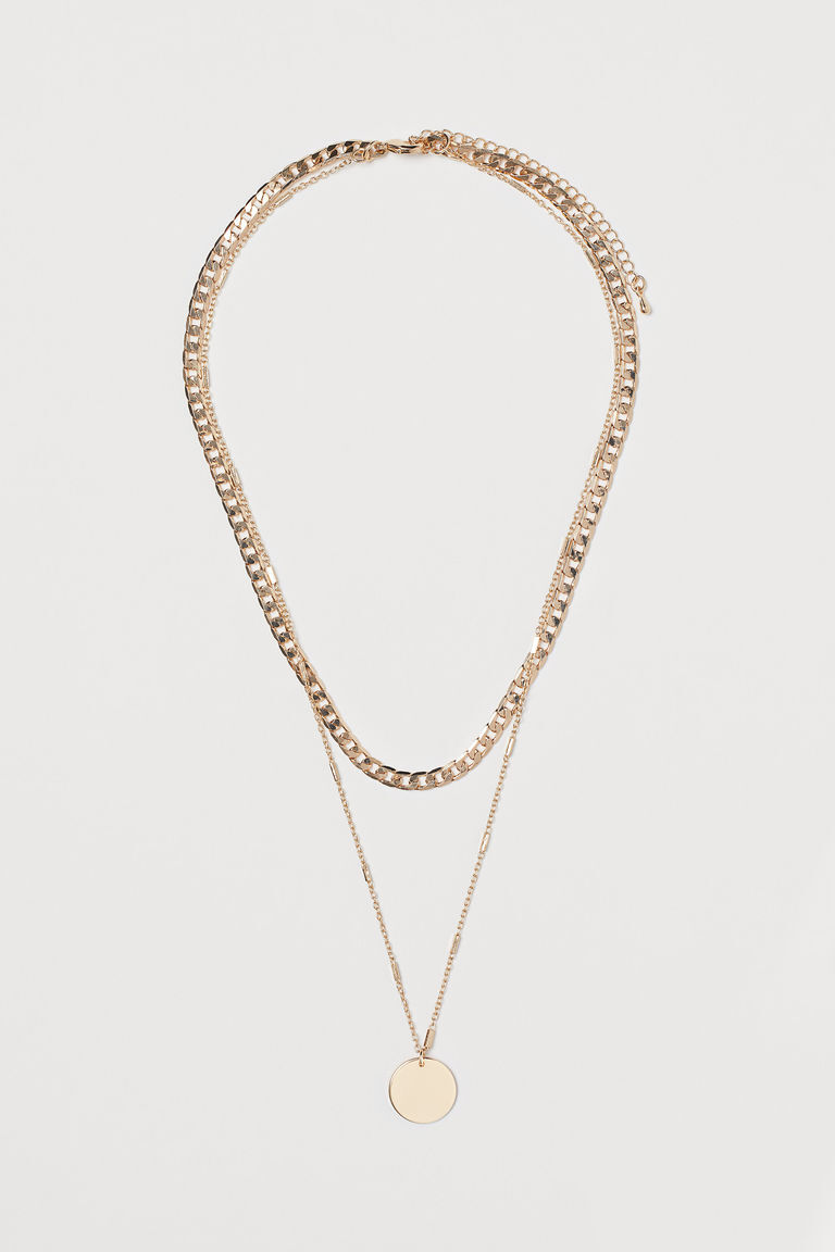 GOLD COLOURED TWO STRAND NECKLACE