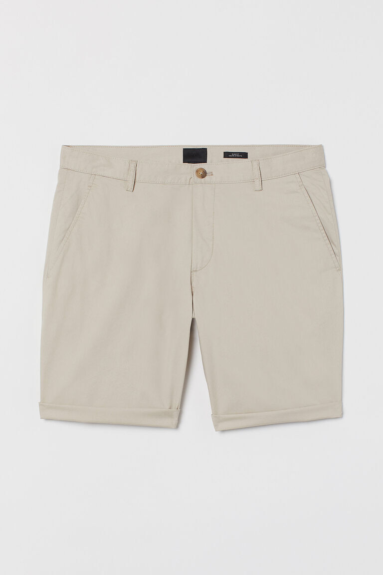 Light Beige chino shorts slim fit