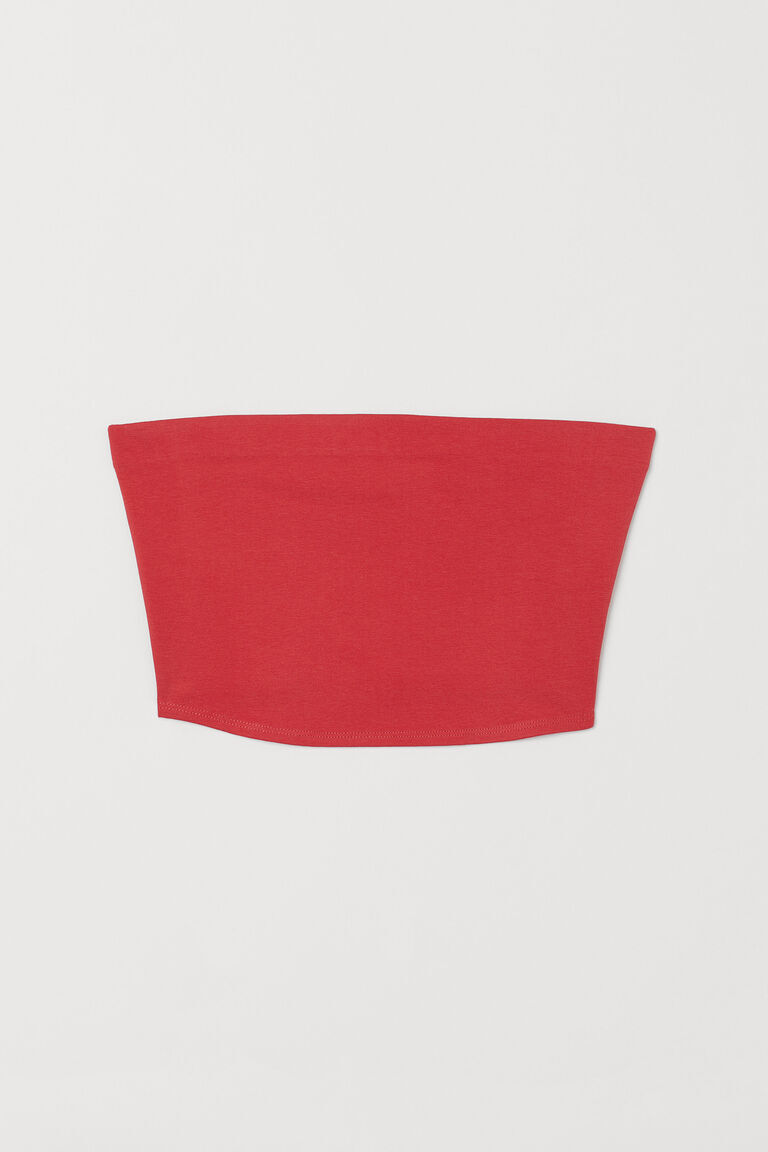RED JERSEY TUBE TOP