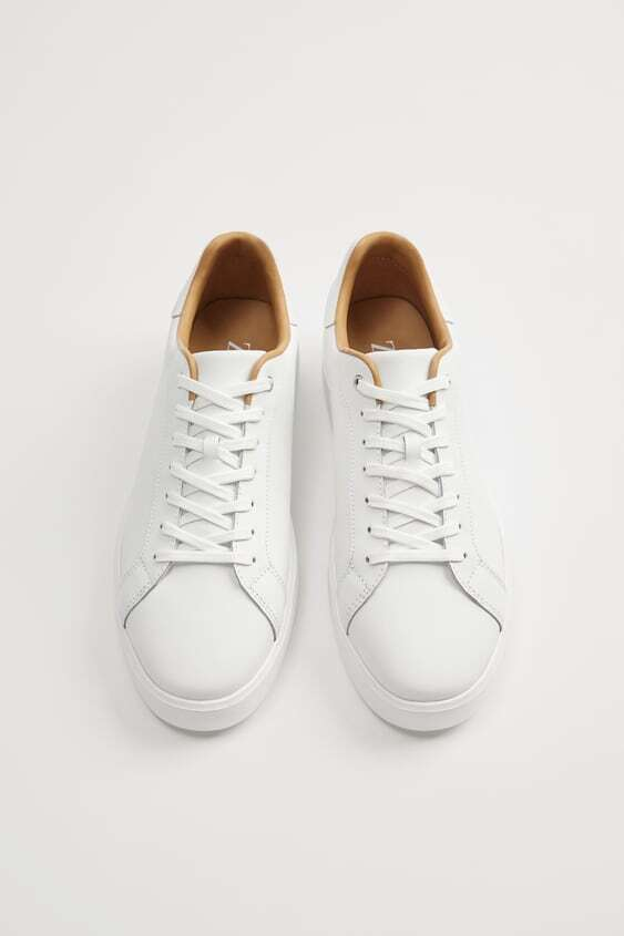 WHITE ZARA LIGHT LEATHER KETS SHOES